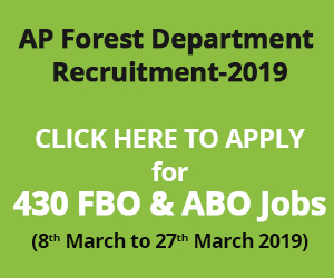AP Forest Department Recruitment-2019