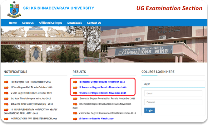 Sku Degree Results 2019 2020 For 1st 3rd 5th Sem Released