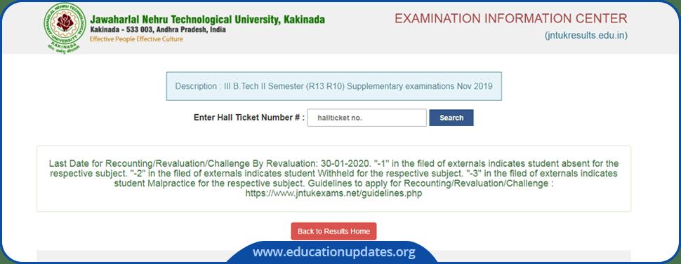 JNTU-Kakinada-BTech-BPharm-Results