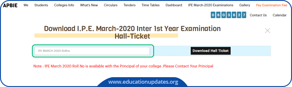 Manabadi-AP-Inter-1st-Year-Hall-Ticket-Download