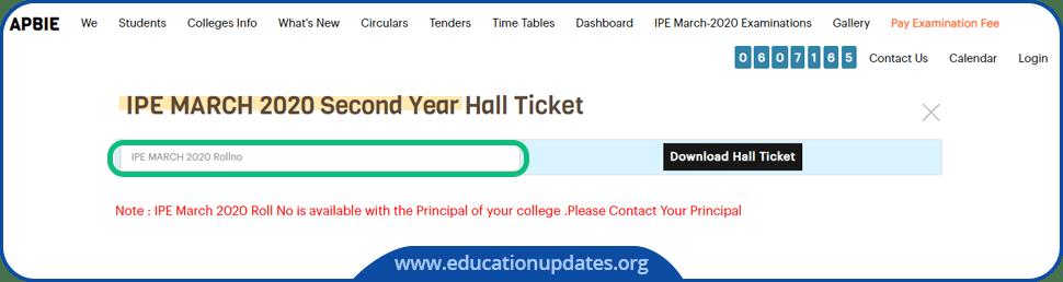 Manabadi-AP-Inter-2nd-Year-Hall-Ticket-Download