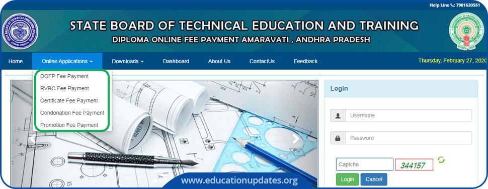 AP-SBTET-Fee-Payment