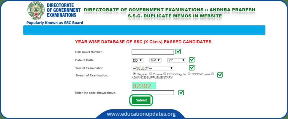AP-SSC-Duplicate-Memo-Download