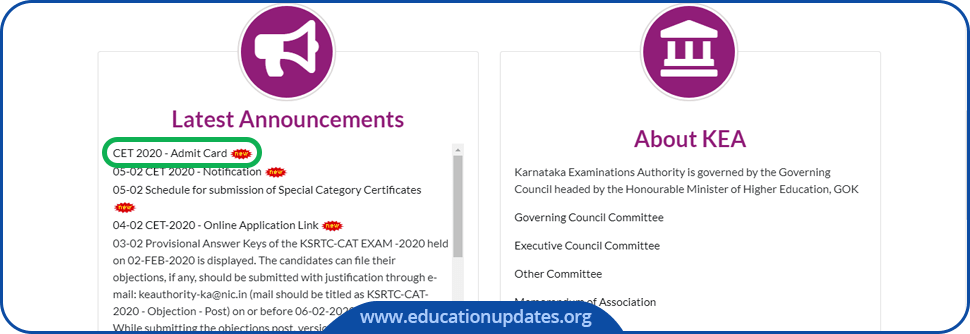 KCET-Admit-Card-2020-Download