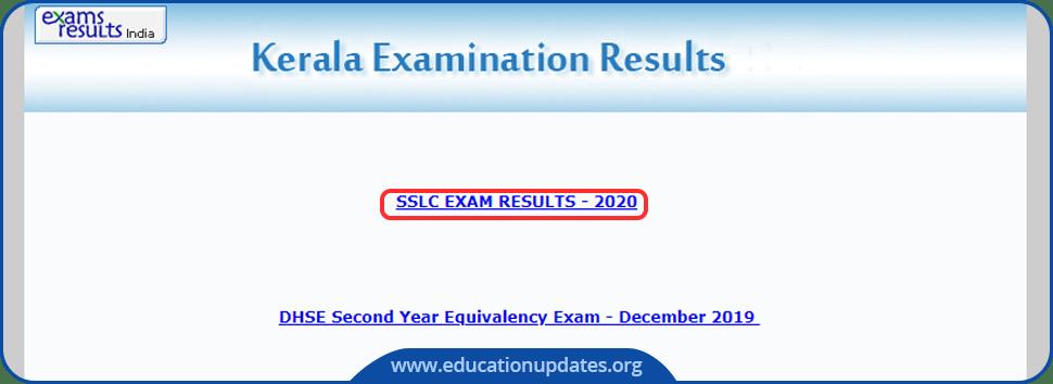 Kerala SSLC Results 2020