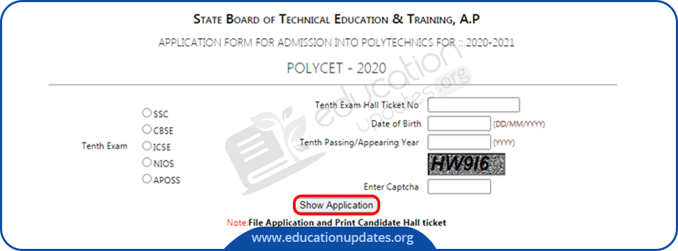 AP POLYCET Application Form