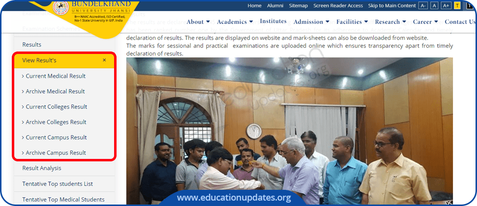 BU Jhansi Result