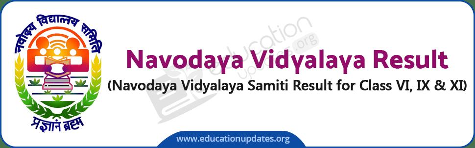 Navodaya Result for Class 6 & 9