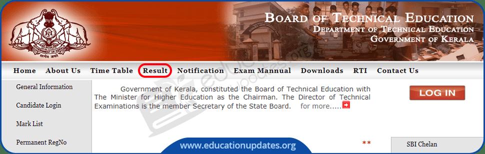 TE Kerala Diploma Result